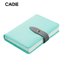 Pocket Notebook a7 Planner Filofax Cute Mini Traveler Diary Personal Organizer Lined Pages Leather Agenda Macaron