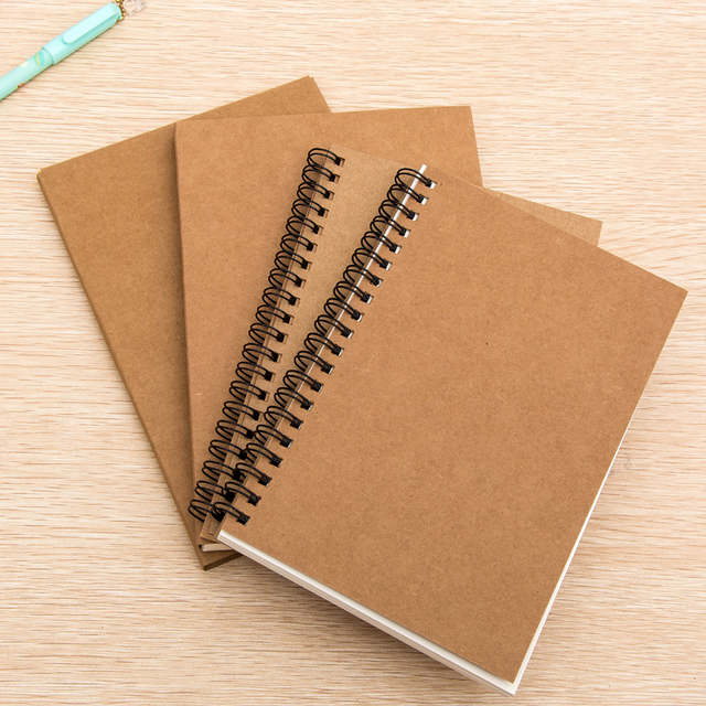 Book Cover Paper Weight : Aliexpress buy k retro sketch paper blank notebook