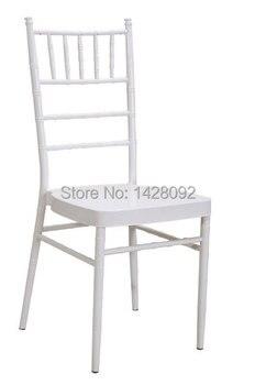 Оптовая Качество Сильный белый металлический стул Кьявари со съемной подушкой для свадебных мероприятий Вечерние