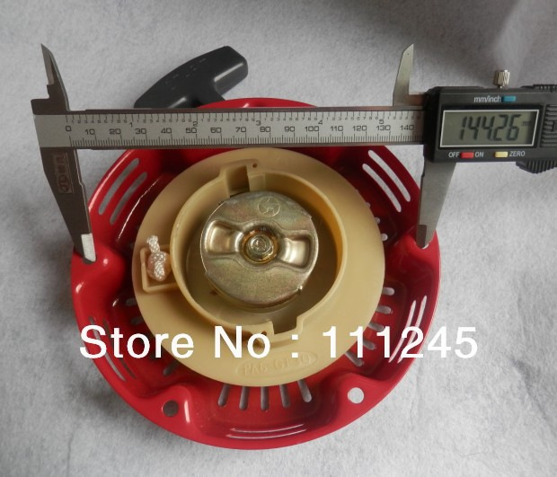 RECOIL STARTER OD 165MM CH2CH. 145MM FOR MITSUBISHI HORIZONTAL 156F 154F 1500  GENERATOR PULL START PULLY  REWIND PARTS
