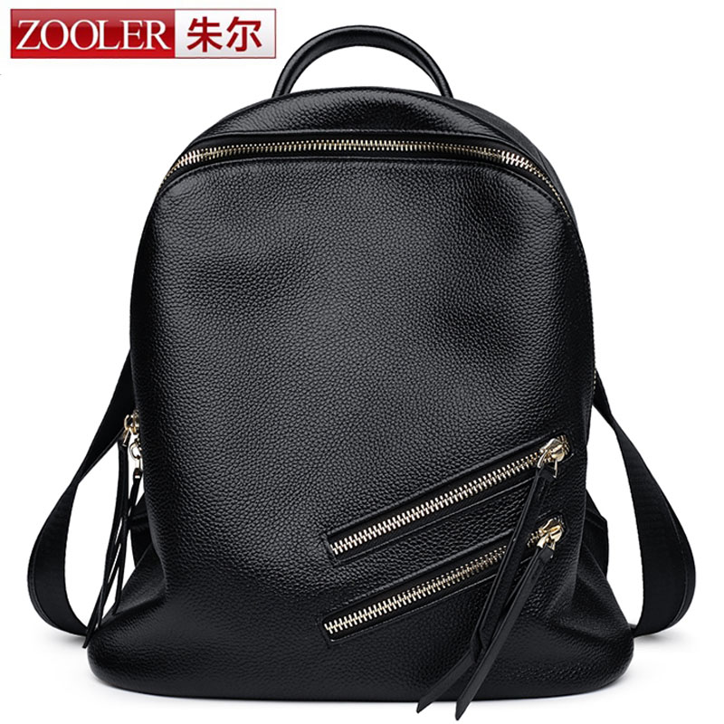 ZOOLER 2017 New Arrival High Quality Genuine Leather Backpacks for Female Travel Bag Ladies Laptop Daily Bolsa Teenager Girl Bag new arrival ship pattern design brooch for female