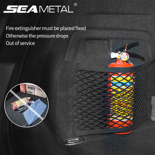 Car Trunk Mesh Organizer Storage Net Cargo Seat Back Luggage Holder Elastic Bag Pocket Stowing Tidying Auto Accessoires Stickers