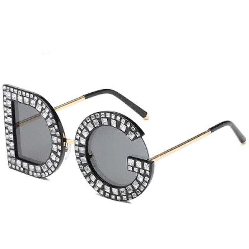 088c3e2dd82 2018 New Diamond Oversized Square Sunglasses Women Men High quality  Sunglasses Luxury Eyeglasses 7 Colors Lentes de sol-in Sunglasses from  Apparel ...