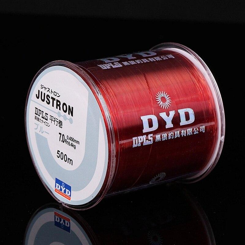 500m supersterke nylon vislijn 2LB - 40LB 7 kleuren Japan - Visvangst - Foto 2