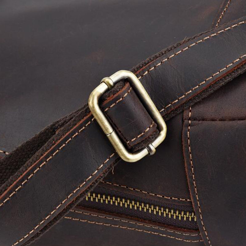 Для мужчин Винтаж Crazy Horse коровьей сумки через плечо мессенджер портфели бренд тренд вертикальный высокое качество Слинг Сумка - 5