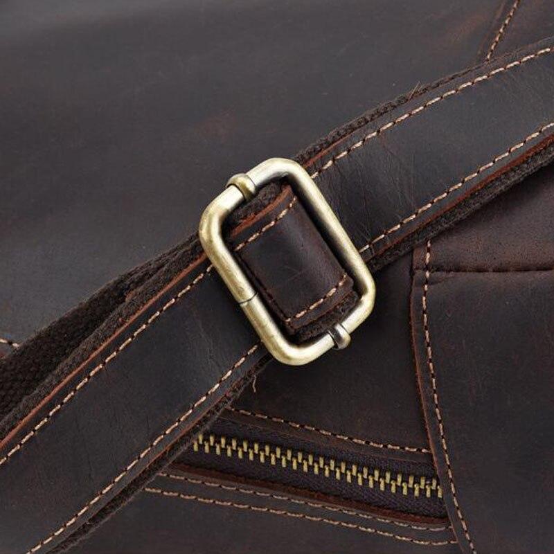 Männer Vintage Crazy Horse Rindsleder Kreuz Körper Taschen Männer Messenger Aktentasche Marke Trend Vertikale Hohe Qualität Sling Schulter Tasche - 5