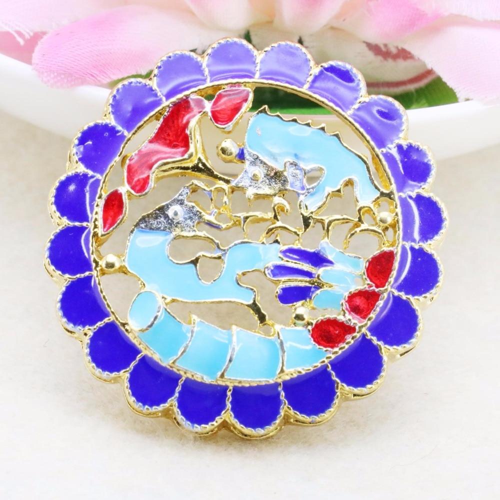 5pcs flower bordure blue cloisonne diy jewelry