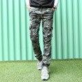 Летом стиль военный камуфляж брюки-карго 2016 мужчины повседневная камуфляж брюки мужчины поезд брюки Армия Зеленый ноги