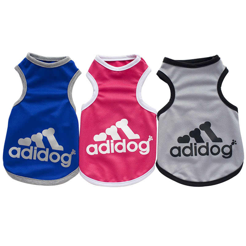 Cute Pet Dog Clothes Soft Dogs Vest New Fashion Sports Cat Shirt Pet Clothing Spring/Summer Cool Sweatshirt Coats For Small Pets