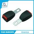 24.5mm Lengua Universal Rígida Extensiones 2 Point Safety Car Del Cinturón de seguridad del Cinturón de Seguridad Hebilla de la Cerradura Negro Ajustable Extensor FEA035A