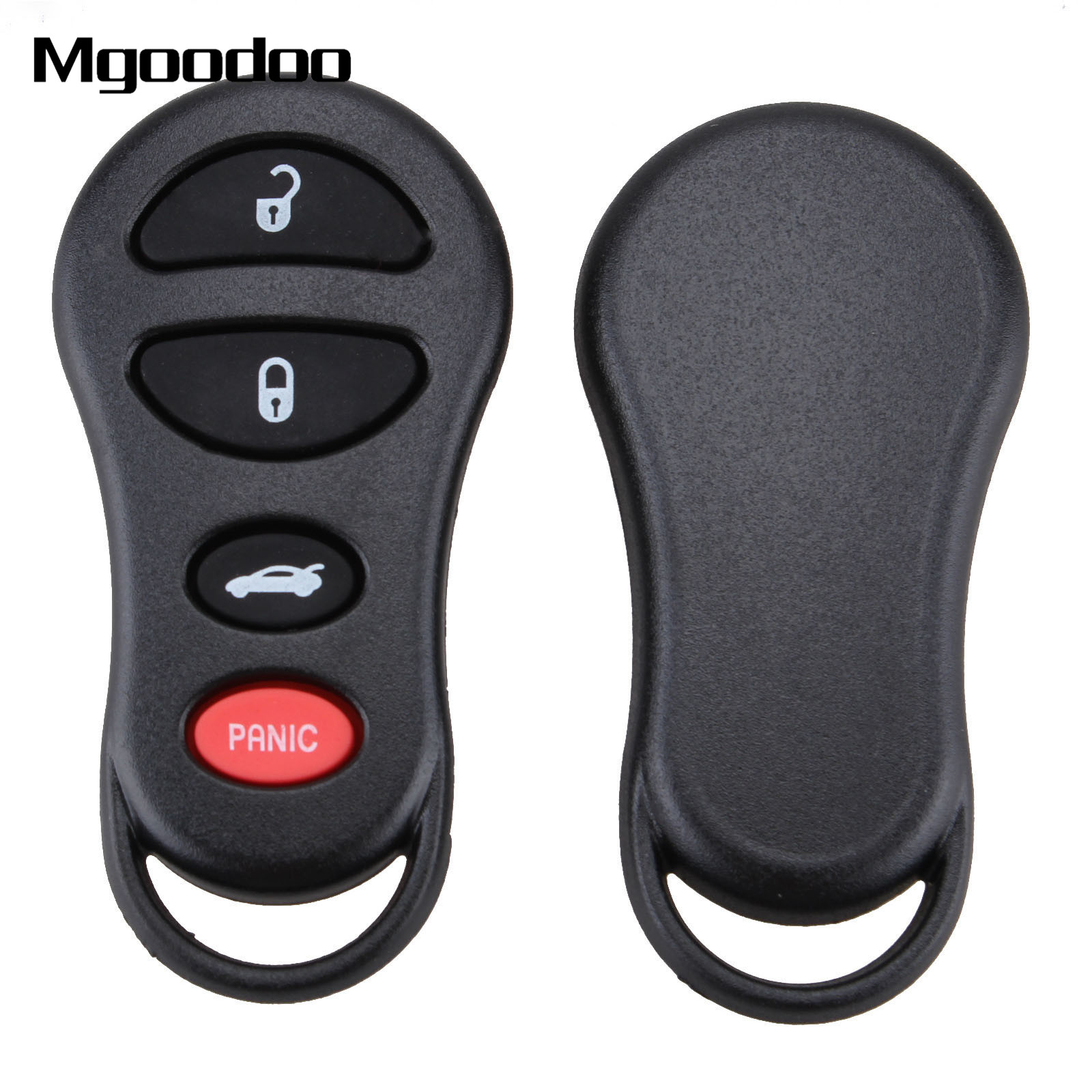3+1 Panic Button Remote Car Key Shell Fob Blank Case Replacement For Chrysler Sebring Jeep Liberty Dodge Neon Intrepid Stratus