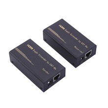 New HDMI 1080P Extender Converter Up to 30-60M,Video/Audio Over Cat5/Cat6 US UK EU Plug