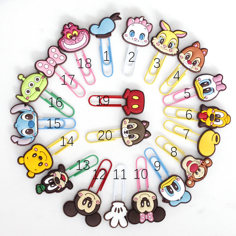 1 Pcs Cartoon Characters Paper Clip Bookmark Binder Clips Promotional Gift Stationery School Office Supply Escolar Papelaria