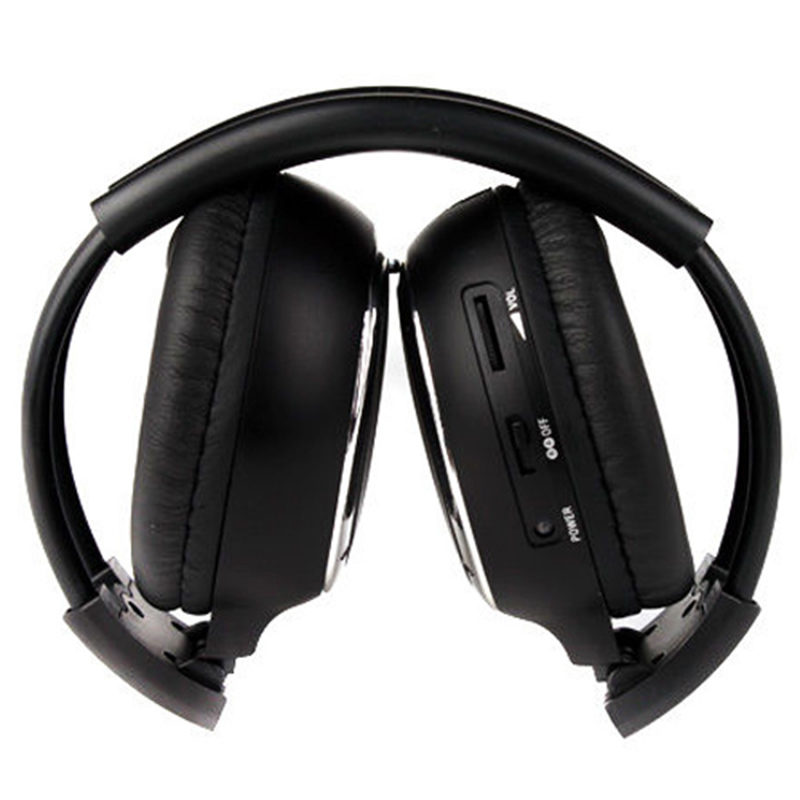 Double Infrared Stereo Wireless Headphone Headset IR Car DVD Player Headrest Black