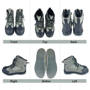 Image 2 - フライフィッシング靴釘 & パンツアクアは唯一上流スニーカー服セット岩スポーツワタリウェーダーブーツ狩猟無スリップ