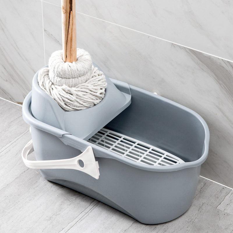 Plastic Rectangular Mop Bucket Large Water Household Plastic Hand-held Flat Mop Floor Bucket