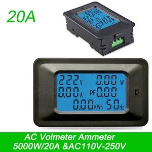 Image 2 - AC22KW 110 ~ 250 V 100A דיגיטלי מתח חשמל אנרגיה מד מתח מד זרם מטרים מחוון הנוכחי אמפר וולט Wattmeter בודק גלאי