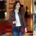Mujeres abrigo de invierno Otoño nuevas Mujeres Coreanas de moda pequeño fragante viento salvaje chaqueta corta Delgada envío gratuito
