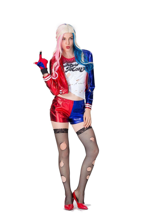 Großhandel Selbstmord Squad Harley Quinn Cosplay Kostüm T Shirt