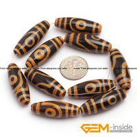10x30mm Olivary Rice Shape Dzi Beads Tibet Agat 10 Pcs Natural agat Stone Loose Beads For Jewelry Making Beads Free Shipping