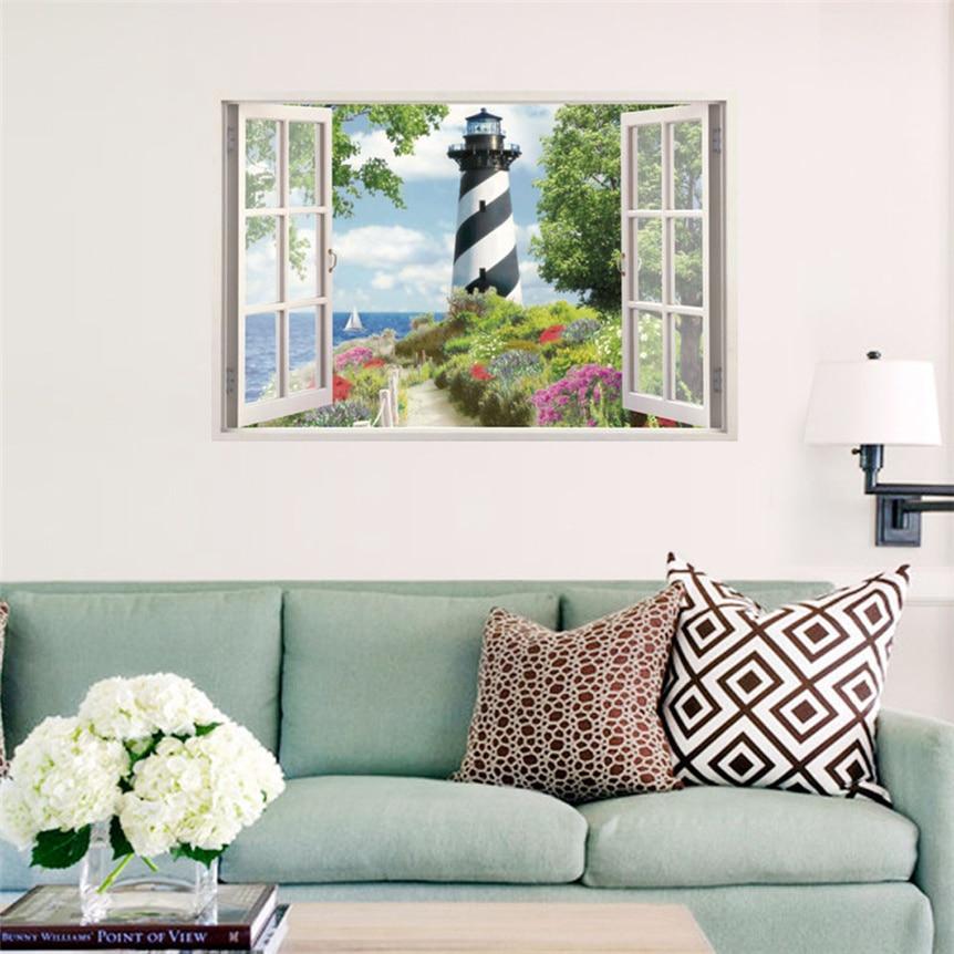 Lovely Pets New 3D Ocean Sea Window Home Decor Wall