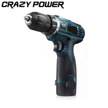 CRAZY POWER 12V Electric Screwdriver Lithium Battery Rechargeable Parafusadeira Furadeira Multi-function Cordless Electric Drill