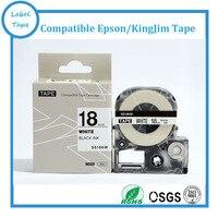 Frete grátis LabelWorks 3 pcs Preto no Branco Fita etiqueta 18mm Fita SS18KW para SR950/750/180 /150