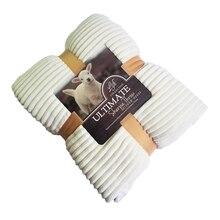 Reversível Lance Cobertor de Lã Artificial Super Macio Primavera Verão Cor Sólida Única Dupla Tamanho Coral Fleece Cobertores Sherpa