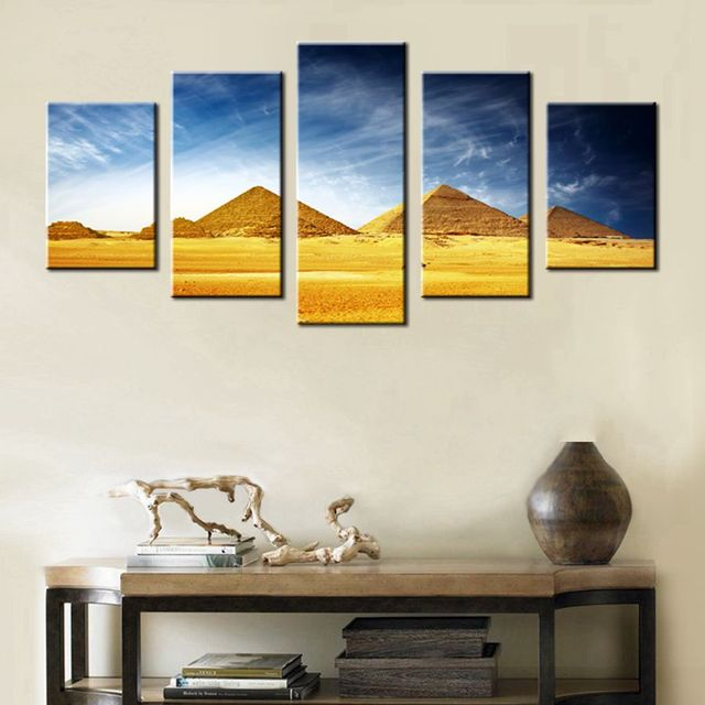 Vintage Home Decor Egyptian Pyramids HD Print Canvas Painting for ...