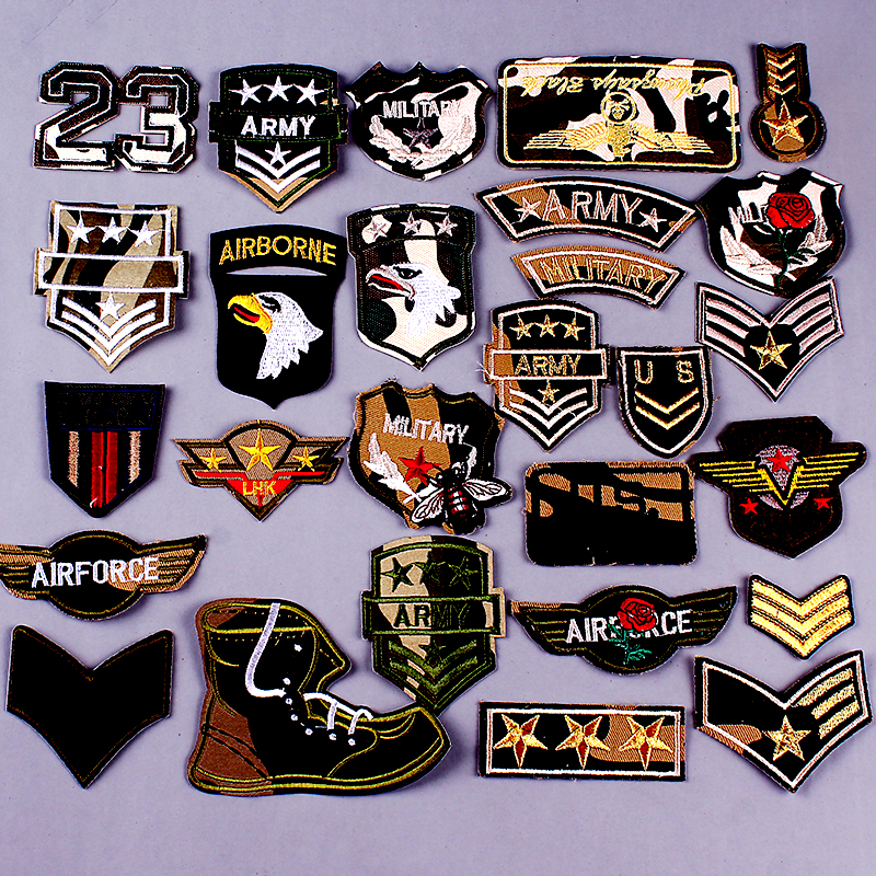 All kinds of cheap motor army patches badge military in All A