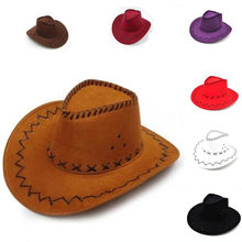 Nueva moda occidental sombreros de vaquero mujer hombres casquillo del visera de sol de las mujeres de rendimiento occidental chico sombreros de Halloween Cosplay vaquero 9 colores(China)