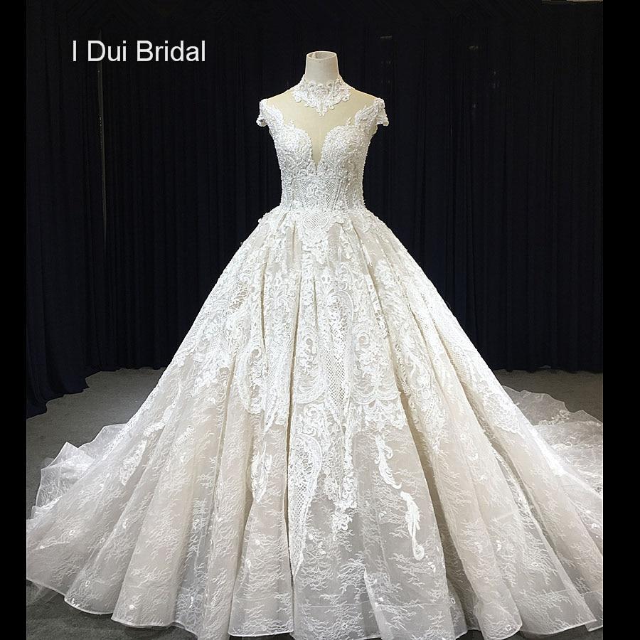 New Bridal Wedding Gown Centre: Aliexpress.com : Buy High Neck Short Sleeve Ball Gown