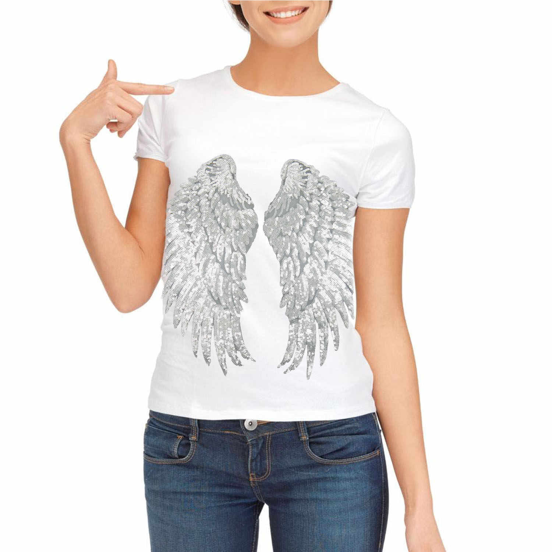 1 пара блесток Крылья ангела стиль DIY нашивки для одежды ткань Аппликации Аксессуары для одежды свитера футболка джинсы одежда сумка