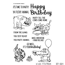 Happy Birthday/Birthday greetings Transparent and Clear Stamp DIY Scrapbooking Album Card Making Decoration