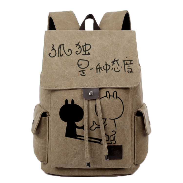 2017 new anime male and female canvas backpack characteristics personality backpack Korean students bag graffiti diy anime tokyo ghoul cosplay anime shoulder bag male and female middle school student travel leisure backpack