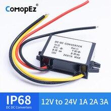 DC преобразователь напряжения переменного тока 12 V-24 V 1A 2A 3A Водонепроницаемый IP68 CE сертифицированный 10 V-20 V 24 V импульс Converte DC повышающий преобразователь