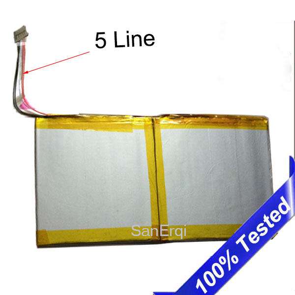 5 wire 3.7V 11000MAH For Teclast X98 AIR 2 AIR2 Battery 5 Lines