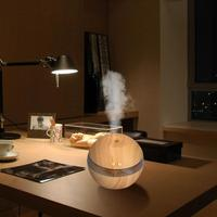 Water Capacity 200ml Air Aroma Essential Wood Grain Oil Diffuser LED Ultrasonic Aromatherapy Humidifier Home Air