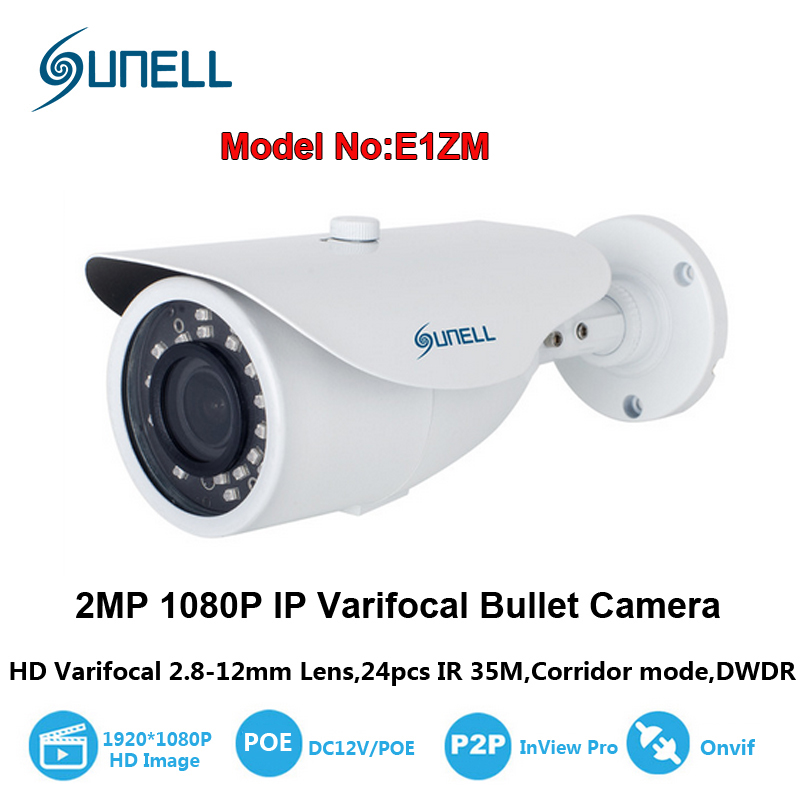 Sunell 2MP 1920 x 1080 Pixel Super HD Network PoE 1080P Security Bullet IP Camera 2