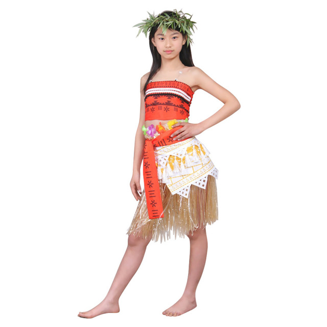 princess moana costume kids girls moana dress cosplay costume children girls party halloween costume dress