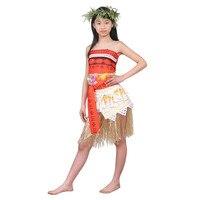 Princess Moana Costume Kids Girls Moana Dress Cosplay Costume Children Girls Party Halloween Costume Dress