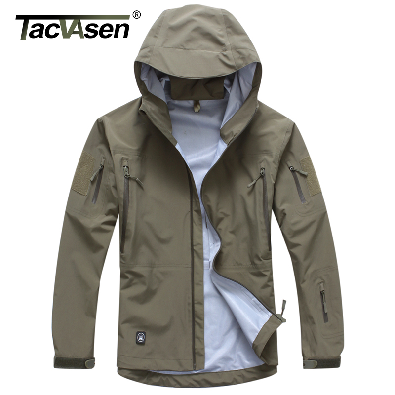 TACVASEN Men Tactical Waterproof jacket Hard Shell Breathable Military Jacket Army style Camouflage Hunt Jacket Coat TD-JLHS-024 lurker shark skin soft shell v4 military tactical jacket men waterproof windproof warm coat camouflage hooded camo army clothing