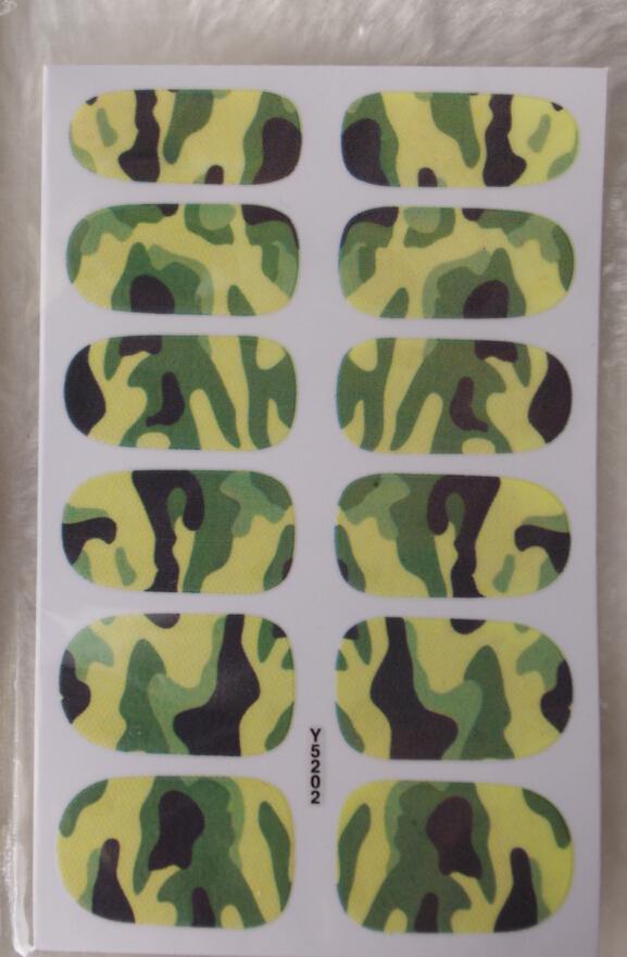 Adhesiva del arte etiqueta Uñas postizas decalques de hoja manicura ...