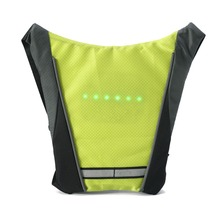 Reflective Safety Vest Outdoor Waterproof 30 pieces of LED lights Warning Light Safety Jacket Signal Wireless Remote Control