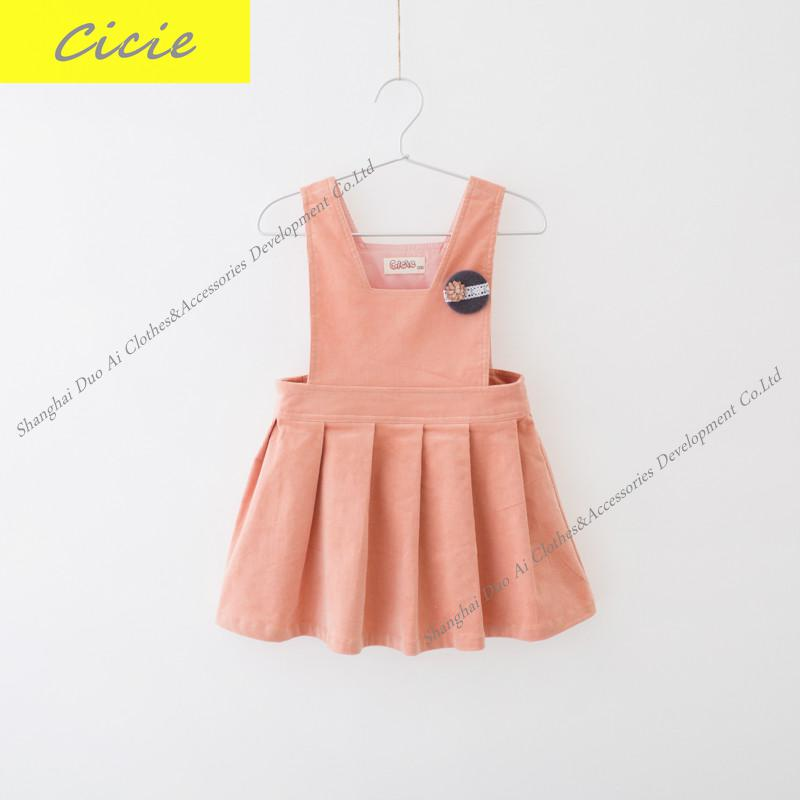 Free Shipping New arrival Spring/Fall Girls' Dress Girl Fashion Leisure strap dress 4-9Y майка clwr pouch tank loden leo melange
