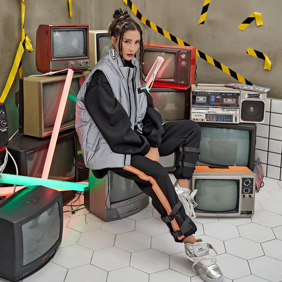 4 Único Correa Beige gris Pantalones Femeninos Rectos Las Invierno Mujeres Ocasionales Harajuku Colores negro Para multiple De rSPWv5rOwq