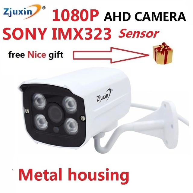 1PC ZJUXIN 1080P ahd camera 4pcs array LED V30 DSP+ SONY IMX323 SENSOR solution good day and night image for outdoor waterproof