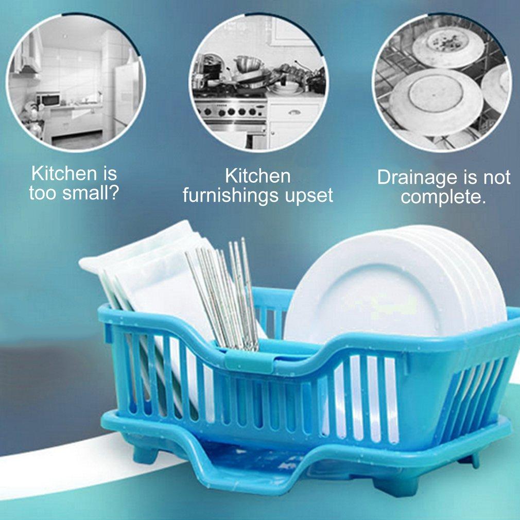 Plastic Washing Holder Basket Rack Storage Kitchen Wash Dry Shelf ...