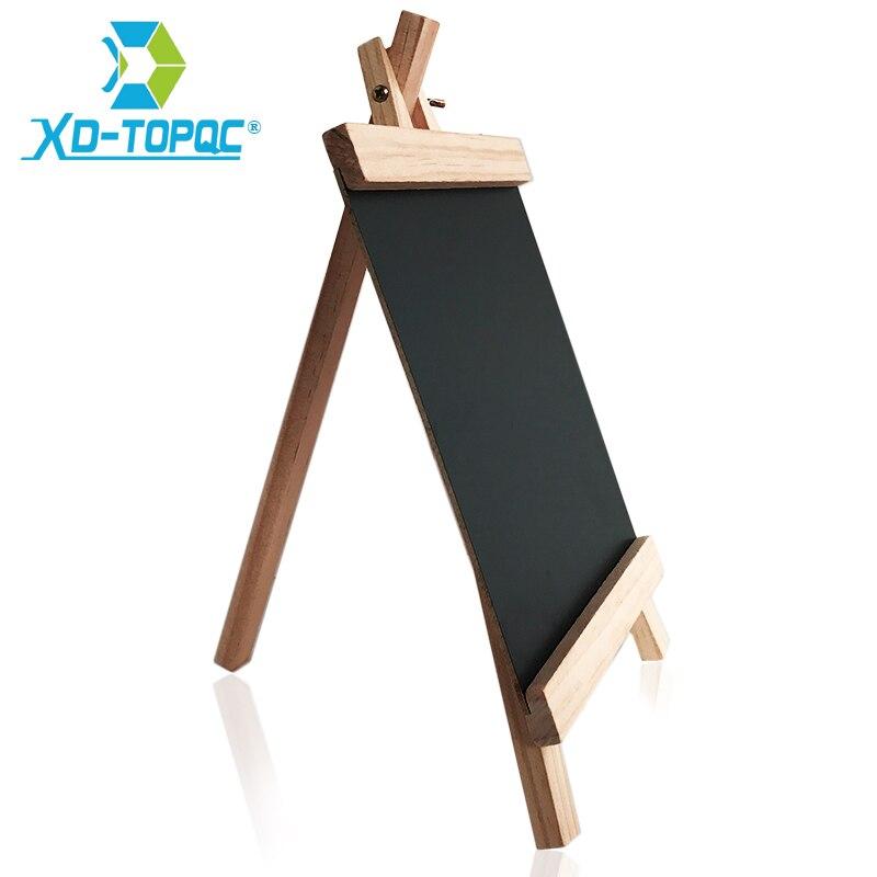 XINDI 20*36cm MDF Desktop Bulletin Blackboard New Pine Wood Easel Chalk Board Kids Wooden Message Chalkboard Drawing Boards BB72 2