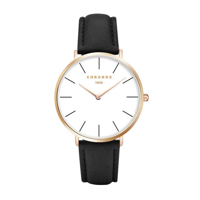 1898 Chronos Watch Top Brand Luxury Wrist Watch Men Women Fashion Couple Watches